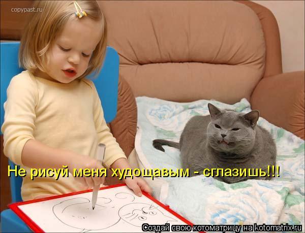 Котоматрица: Не рисуй меня худощавым - сглазишь!!!