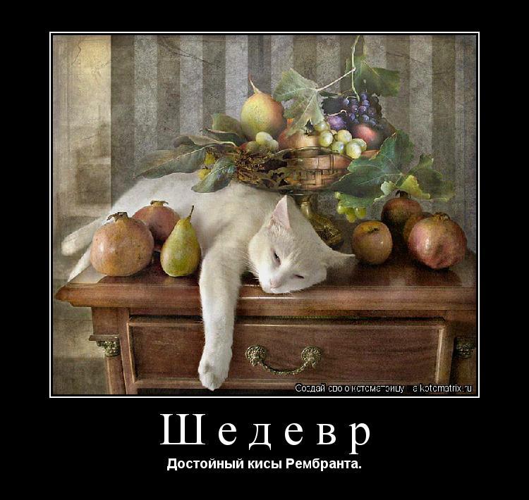 Котоматрица: Шедевр Достойный кисы Рембранта.