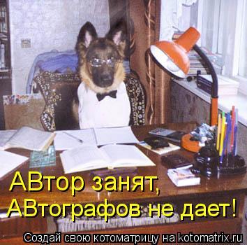 Котоматрица: АВтор занят, АВтографов не дает!