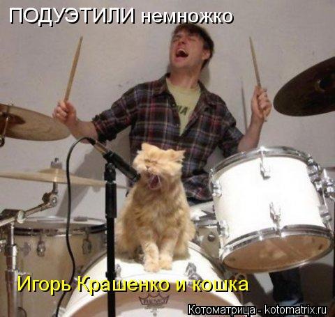 Котоматрица: ПОДУЭТИЛИ немножко Игорь Крашенко и кошка
