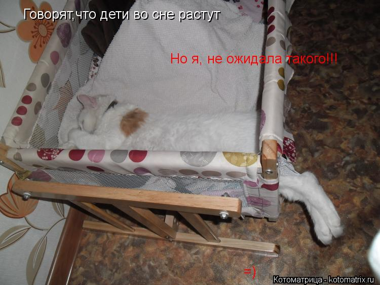 Котоматрица: Говорят,что дети во сне растут  Но я, не ожидала такого!!! =)