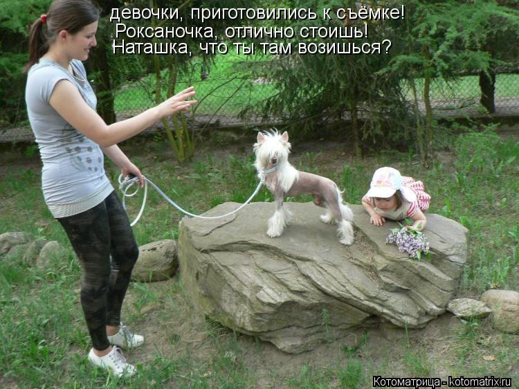 Котоматрица: Роксаночка, отлично стоишь! Наташка, что ты там возишься? девочки, приготовились к съёмке!