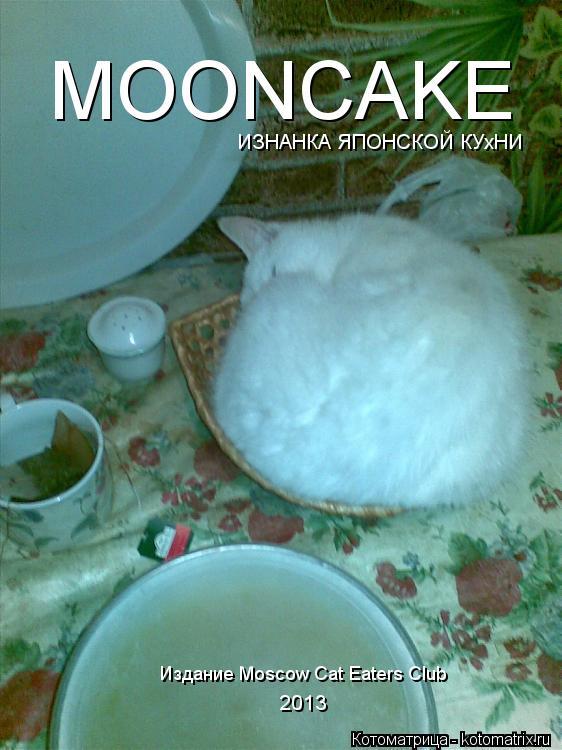 Котоматрица: MOONCAKE ИЗНАНКА ЯПОНСКОЙ КУхНИ Издание Moscow Cat Eaters Club 2013