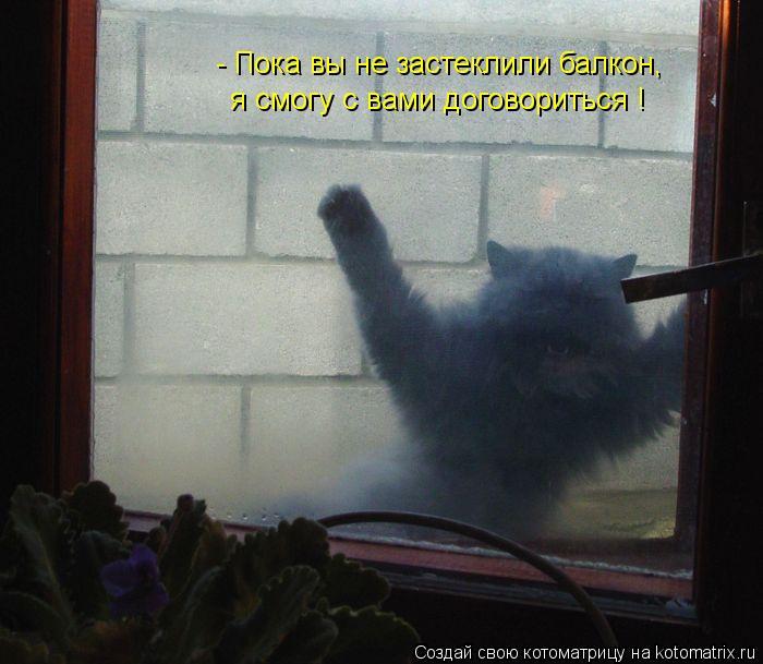 - Пока вы не застеклили балкон, я смогу с вами договориться !