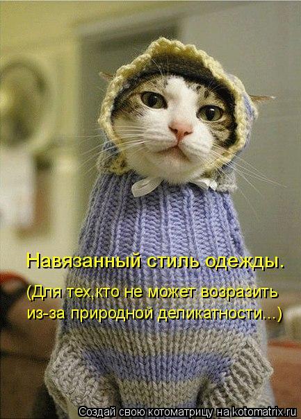 Котоматрица: Навязанный стиль одежды. (Для тех,кто не может возразить из-за природной деликатности...)
