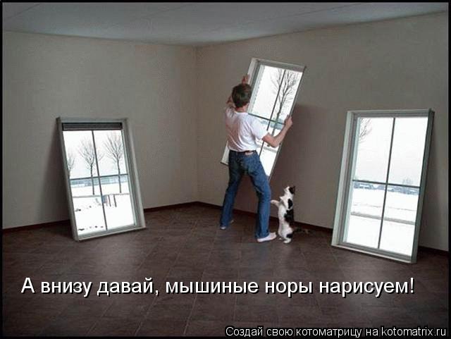 Котоматрица: А внизу давай, мышиные норы нарисуем!