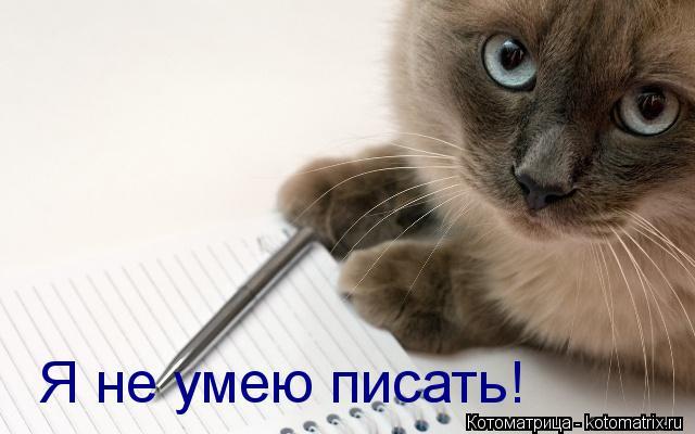 Котоматрица: Я не умею писать!