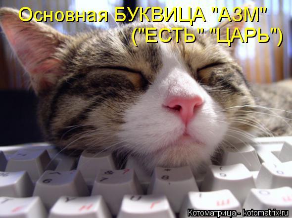 "Котоматрица: Основная БУКВИЦА ""АЗМ"" (""ЕСТЬ"" ""ЦАРЬ"")"