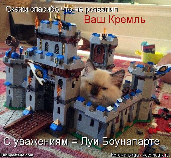 Котоматрица: Скажи спасибо что не розвалил Ваш Кремль С уважениям = Луи Боунапарте