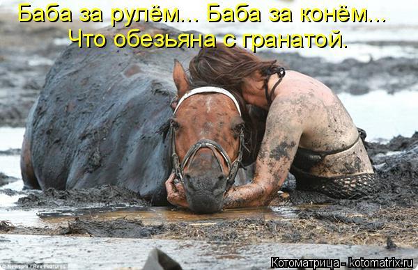 Котоматрица: Баба за рулём... Баба за конём... Что обезьяна с гранатой.