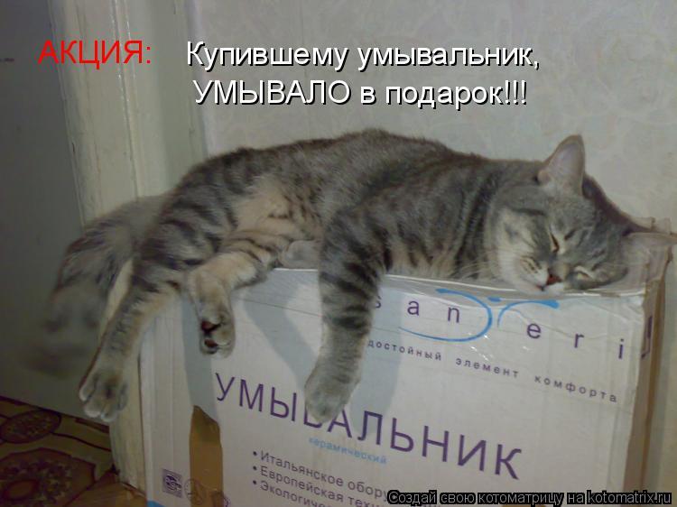 Котоматрица: АКЦИЯ: Купившему умывальник, УМЫВАЛО в подарок!!!
