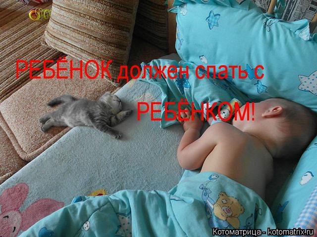 Котоматрица: РЕБЁНОК должен спать с  РЕБЁНКОМ!