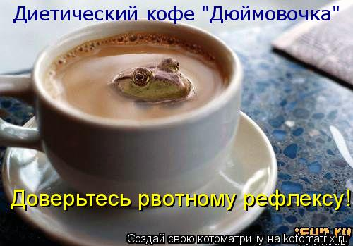 """Котоматрица: Диетический кофе """"Дюймовочка"""" Доверьтесь рвотному рефлексу!"""