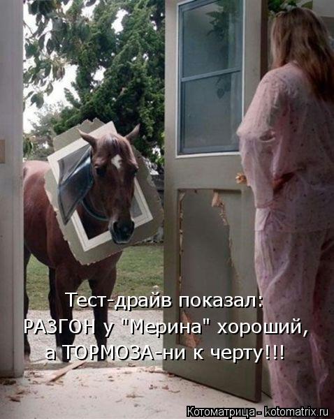 """Котоматрица: Тест-драйв показал: РАЗГОН у """"Мерина"""" хороший,  а ТОРМОЗА-ни к черту!!!"""