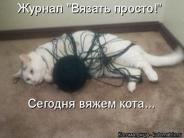 """Котоматрица: Журнал """"Вязать просто!"""" Сегодня вяжем кота..."""