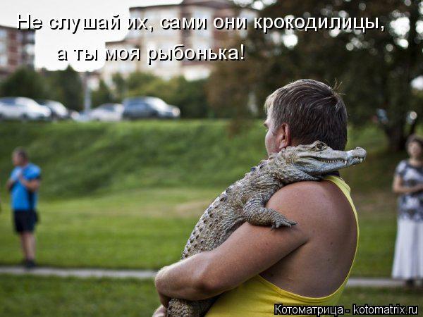 Котоматрица: Не слушай их, сами они крокодилицы, а ты моя рыбонька!