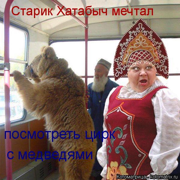 Котоматрица: Старик Хатабыч мечтал с медведями посмотреть цирк