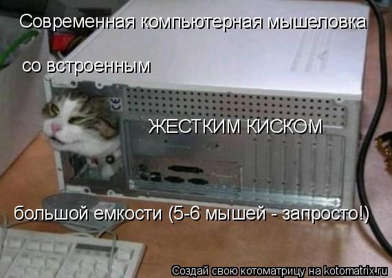 Котоматрица: Современная компьютерная мышеловка со встроенным ЖЕСТКИМ КИСКОМ большой емкости (5-6 мышей - запросто!)