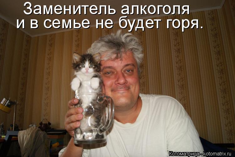 Котоматрица: Заменитель алкоголя и в семье не будет горя.