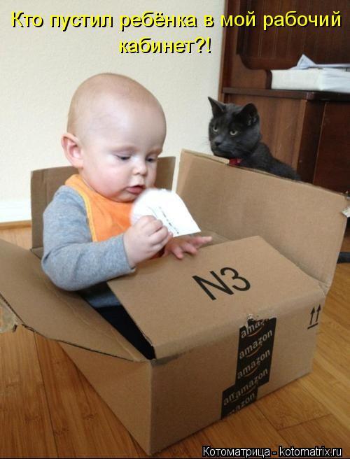 Котоматрица: Кто пустил ребёнка в мой рабочий кабинет?!