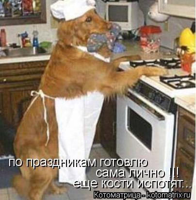Котоматрица: по праздникам готовлю  сама лично !!! еще кости испотят...