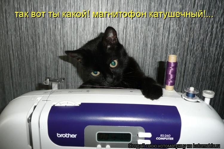 Котоматрица: так вот ты какой! магнитофон катушечный!...