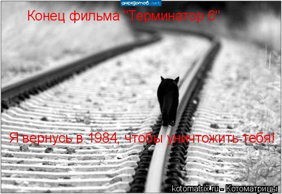 """Котоматрица: Конец фильма """"Терминатор 6""""  Я вернусь в 1984, чтобы уничтожить тебя!"""