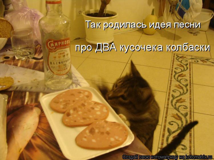Котоматрица: Так родилась идея песни про ДВА кусочека колбаски