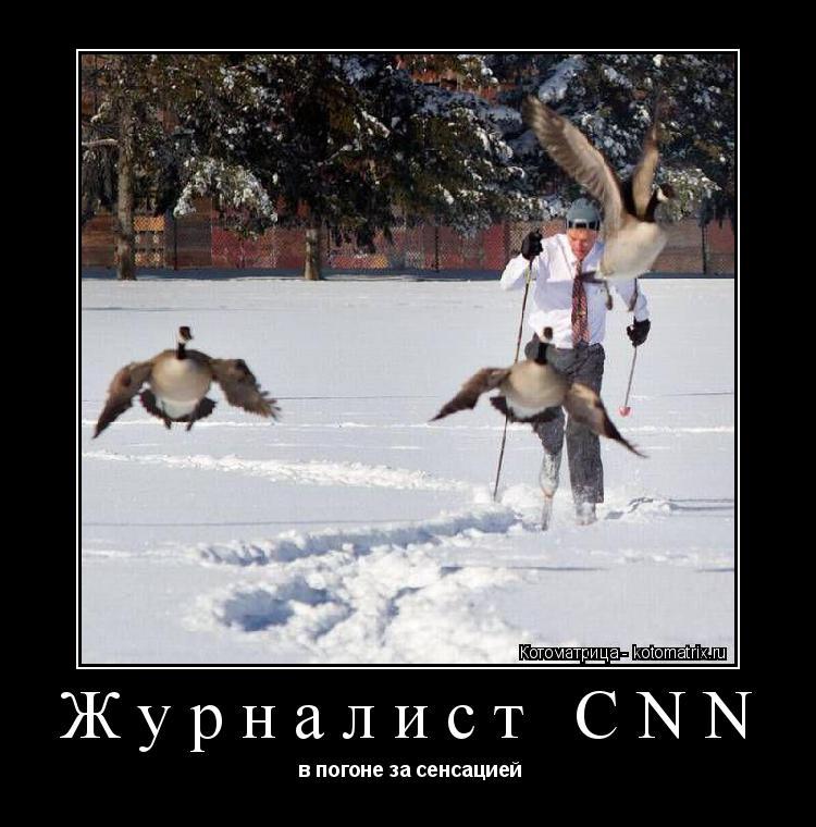 Котоматрица: Журналист CNN  в погоне за сенсацией