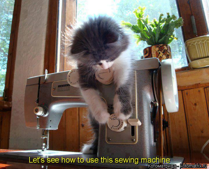 Let's see how to use this sewing machine