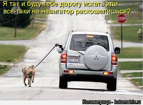 Котоматрица: Я так и буду тебе дорогу искать или  всё-таки на навигатор раскошелишься?
