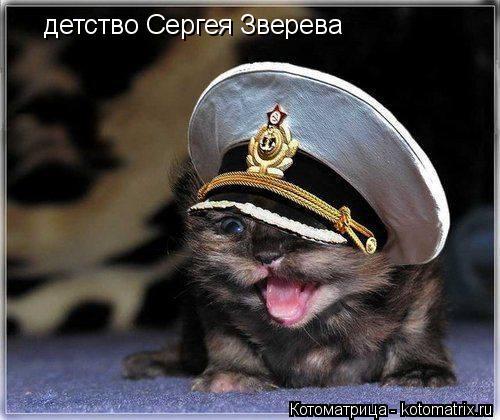 Котоматрица: детство Сергея Зверева
