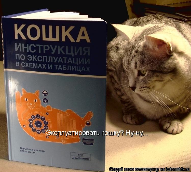 Котоматрица: Эксплуатировать кошку? Ну-ну...